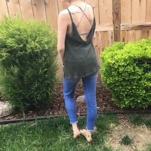 Forever 21 low back tank!